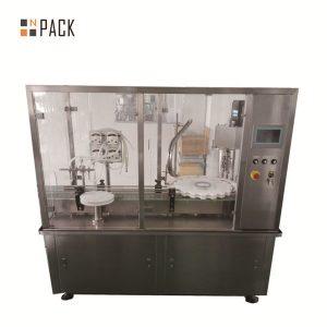 化粧品産業のための10g-100gローションのクリーム色の瓶の詰物およびおおう機械