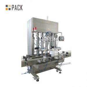 500ml-5LコンベヤーPLC制御を用いるクリームのためのサーボシステムが付いている自動6つの頭部ののりの充填機