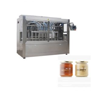 PLCは8つのノズルののりの充填機、400Gガラスの込み合いの瓶の充填機を制御します