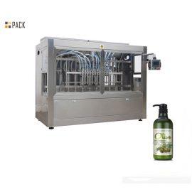シャンプー/シャワーのゲル/柔軟剤のためのPLCのインライン8ヘッド軟膏の充填機